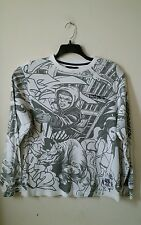 ECKO UNLTD MENS SHIRT  SIZE  M IN GRAY AND WHITE