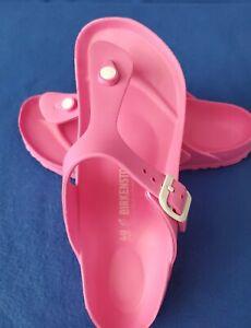 Birkenstock Gizeh EVA Light Sandals Slides Thongs Flip Flops PINK Beach regular