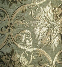 Polsterstoff Möbelstoff Stoff Barock Antik Neu Jaquard Chenille Webstoff Grün
