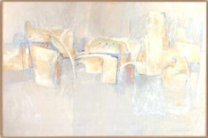Original Modern Abstract Oil Painting Listed AZ Artist Marlys K. Powell Mallet