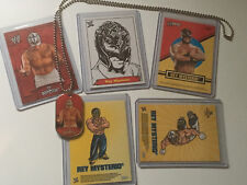 Rey Mysterio WWE Lot of 6 Different Trading Cards And Inserts With Dog Tag  619