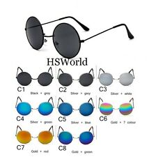 Goggle Round Sunglasses Unisex Metal Eye Wear Green Black Multi Silver Blue Gold