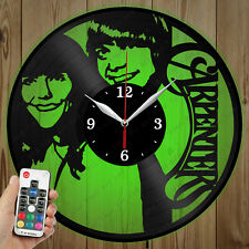 LED Vinyl Clock The Carpenters LED Wall Art Decor Clock Original Gift 4916