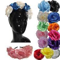 Bespoke Rose Flower Boho Garland Headband Hair Crown Fascinator - Made to Order