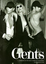 2012 magazine advertisement, GENTS Fine Mens Wear, sexy models! -092613