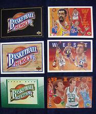 1991-93 UPPER DECK BASKETBALL HEROES 3 SETS JERRY WEST, LARRY BIRD, CHAMBERLAIN