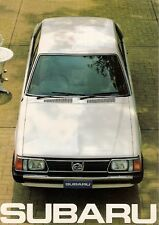 Subaru 1600 1800 Saloon Estate 4WD 1981 UK Market Sales Brochure