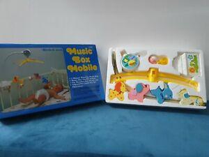 Music box baby mobile vintage made in hongkong toy