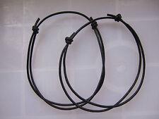 10 x Black Real Leather Cord Lucky Bracelet Anklet Adjustable For Men Women Surf