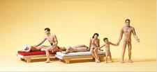 Preiser 10439 HO/OO Scales Couple & Family At Nudist Beach Model Railway Figures