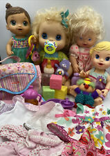 Huge Lot Of Baby Alive Dolls My Baby Alive Vintage All Gone Fairy Teacup Clothes