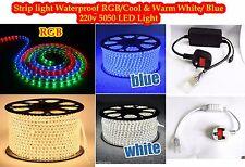 LED Strip 220V 240V IP67 Waterproof 5050 Commercial Lights Rope White Blue RGB
