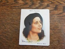 WILLS LARGE CIGARETTE CARDS FAMOUS BRITISH AUTHORS  No 38 REBECCA WEST