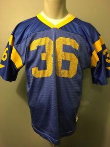 Vtg 90s LA Rams Jerome Bettis Jersey Wilson Youth L NFL Football Uniform Shirt