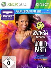 ZUMBA WORLD PARTY FITNESS WORKOUT EXERCISE TRAINING XBOX 360 NEW VIDEO GAME