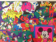 Rare Original 1970s 'Disneyland Memorial Orgy' Blacklight Poster by Wally Wood
