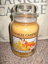 Yankee Candle STAR FRUIT ORANGE Large Jar 22 oz Candle Fruit RARE
