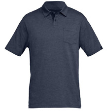 Under Armour Men's UA Charged Cotton Scramble Golf Polo Shirt Size Large