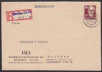 SBZ Mi Nr. 227 EF Firmen R- Brief Berlin HO Möbelhaus - Bautzen 1951