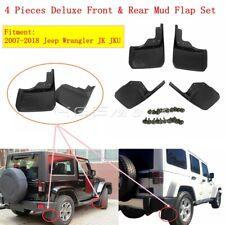 Black Pack of 2 Husky Liners 56141 Custom Fit Front Mudguard for Select Jeep Wrangler Models