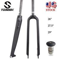 """1-1/8"""" Full Carbon 3K Mountain Bike Fork 26/27.5/29er Disc brake Rigid MTB Forks"""