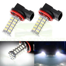 2x H11 68-SMD Car Xenon White LED Fog Driving DRL Daytime Running Light 6000K