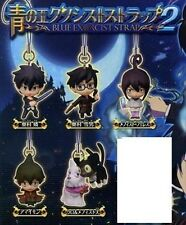 Bandai Blue Exorcist Ao no Figure Phone Strap Mascot Part 2 Set of 5
