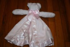 Bearington Baby Collection Pink Bow Ribbon Teddy Bear Security Blanket