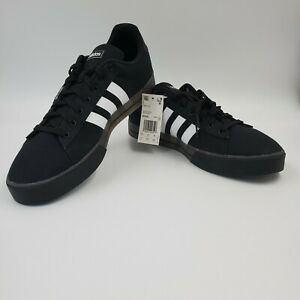 Adidas Daily 3.0 Skate Shoes Black White Men's NEW Sneakers Casual FW7050 NWOB