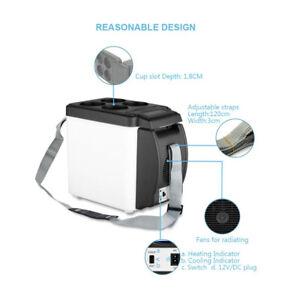 Mini Car Fridge Cooler Refrigerator Ice Chest 6L 12V for Picnic Truck Yacht