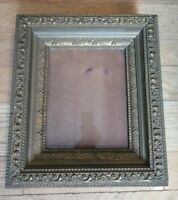 ANTIQUE ORNATE GOLD GILT PICTURE FRAME DEEP WIDE TRIPLE WOOD GESSO FITS 8X10