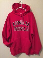 NWOT UNLV Rebels Sewn Logo Pullover Hoodie Red Adult  L  NWOT