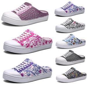 Women Summer Slip On Clogs Sandal Nurse Mules Slippers Beach Garden Flat Shoes