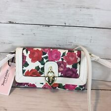 NEWT Juicy Couture Charm School Mini Crossbody Bright Pink Floral handbag Bag