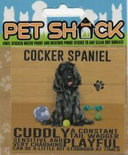 """CLASSIC SIGN AND DESIGN - """"COCKER SPANIEL"""" DOG/PUPPY/STICKER      *NEW & SEALED*"""