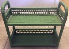 Vintage Wicker 2-tier Shelf