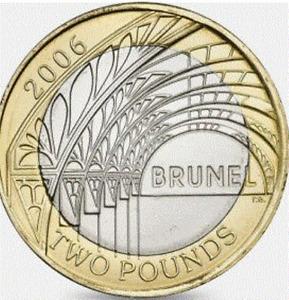 2 Pound Coin 2006 Brunel
