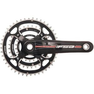 FSA Team Issue Mega Exo Carbon 9Spd Road Bike Crankset 44/32/22T, 175mm