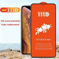 111D Full Cover Tempered Glass Screen Protector For iPhone 6 7/8 Plus X XR Max