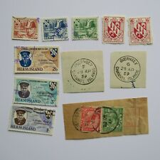 Guernsey Herm Island Collection of Stamps + Postmarks some rare