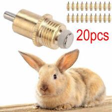 20Pcs Long Type Rabbit Drinker Nipple Waterer Drinking Water Tool Cage Accessory