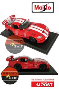 MAISTO 1998  Dodge  Viper GT2  Red 1:18 Diecast Model Car AU Stock AU seller