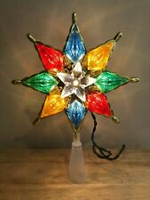 Christmas Tree Star Tree Topper Lights Up Colorful Star