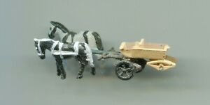 2 Horses and cart     by PREISER    N Gauge