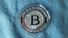 Physical Bitcoin .999 Fine Silver QR Code Value Conversion Anonymous Mint W/COA