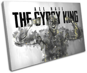 Tyson Fury Boxing Quote Sports SINGLE CANVAS WALL ART Picture Print
