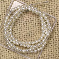 Ivory White Acrylic Round Imitation pearl With Hole Spacer Beads Jewelry Making