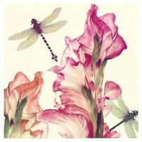 5D Full Drill Diamond Painting Dragonfly Flower Stitch Kits Embroidery Art Hobby