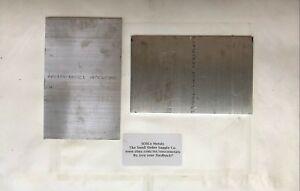 """Aluminum Flat Bar, 1/4"""" x 5"""" x 8"""", 2 Pcs 6061 AL FB .25"""", 5"""" Wide, 8"""" Long"""