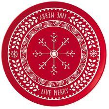 Hallmark Live Merry Snowflake 13\  Round Serving Platter  sc 1 st  eBay & Hallmark Decorative Plates | eBay